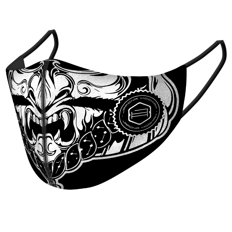 <p>Japona Mask<br /> Black White Samurai</p>