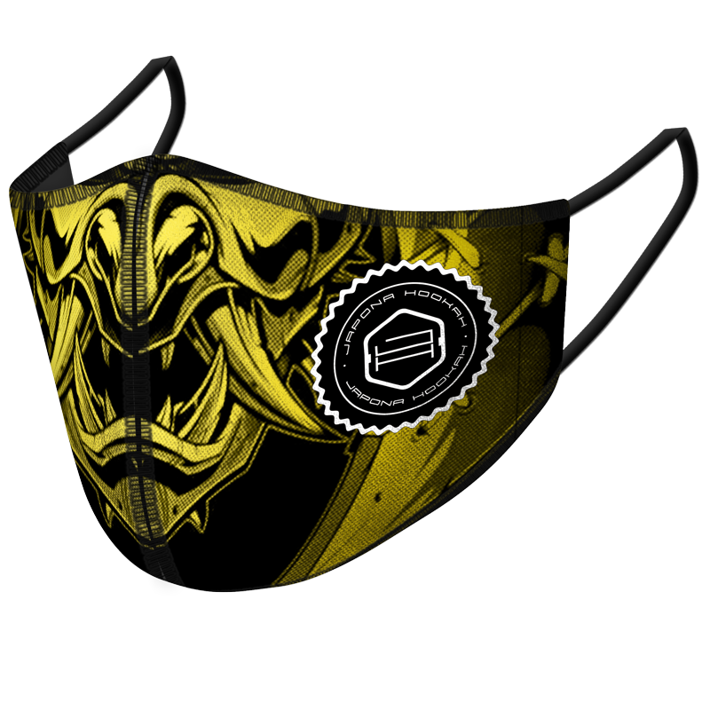 <p>Japona Mask<br /> Gold Black Samurai</p>